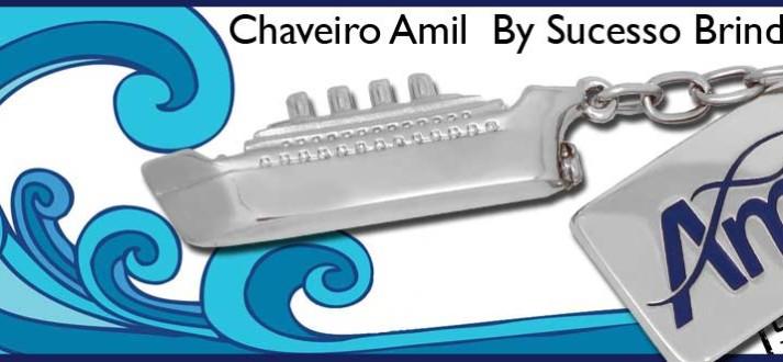 Brinde Chaveiro Navio, investimento realizado pela empresa Amil
