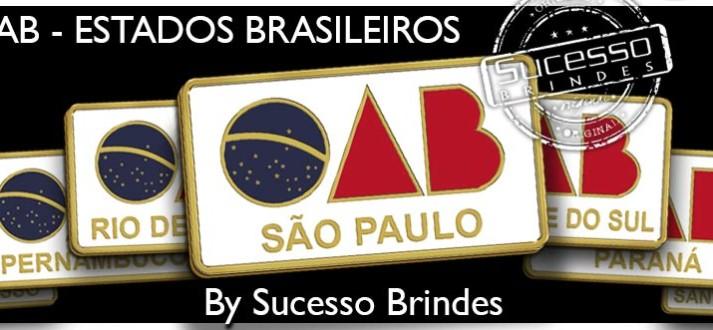 Pins OAB de Metal Personalizado com todos os Estados do Brasil.